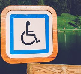 Disabled Sign in Chatel; France